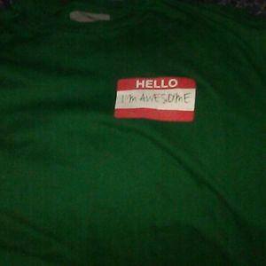 Hello I'm awesome tshirt